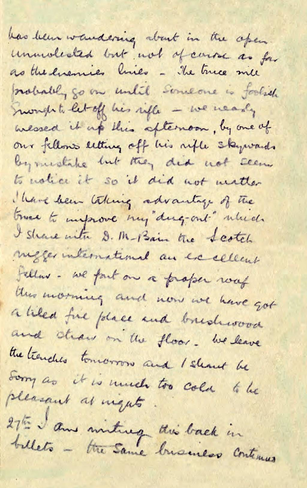 Christmas Truce Letter page 3