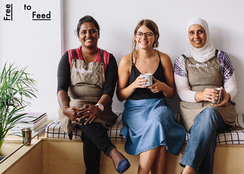Loretta Bolotin (middle), co-founder of Free to Feed. Loretta came through our Accelerator program in 2016, and was awarded $25,000 towards her social enterprise. Read more about Free to Feed here.
