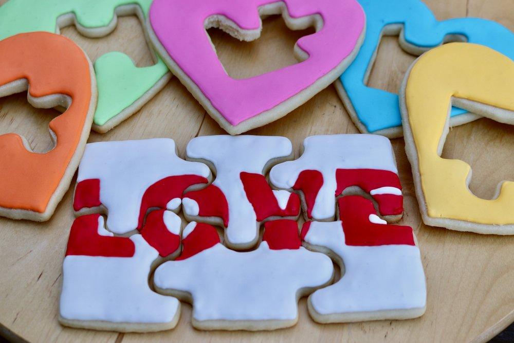 Love Puzzle Cookies