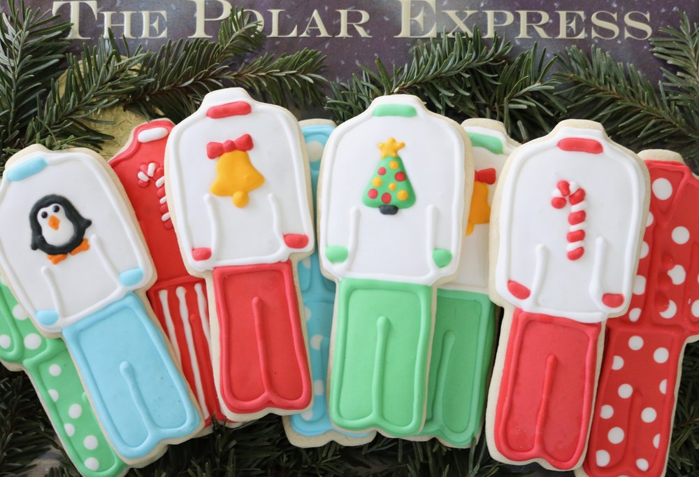 Polar Express Pajama Cookies