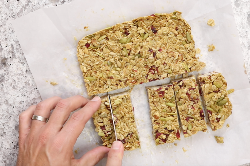 8.  Refrigerate 2+ hours, or overnight.  Slice into bars and serve. -