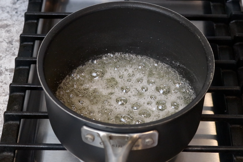 3. Bring to a boil over medium heat.Let mixture boil for around 5 minutes without stirring. -