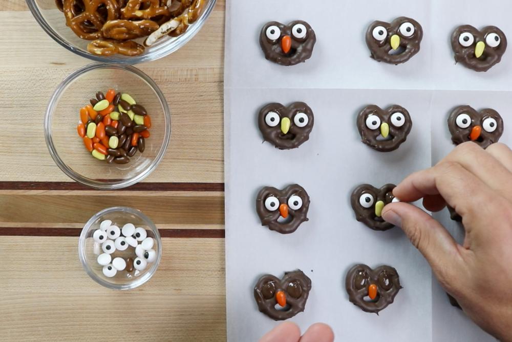8. Add candy eyes. -