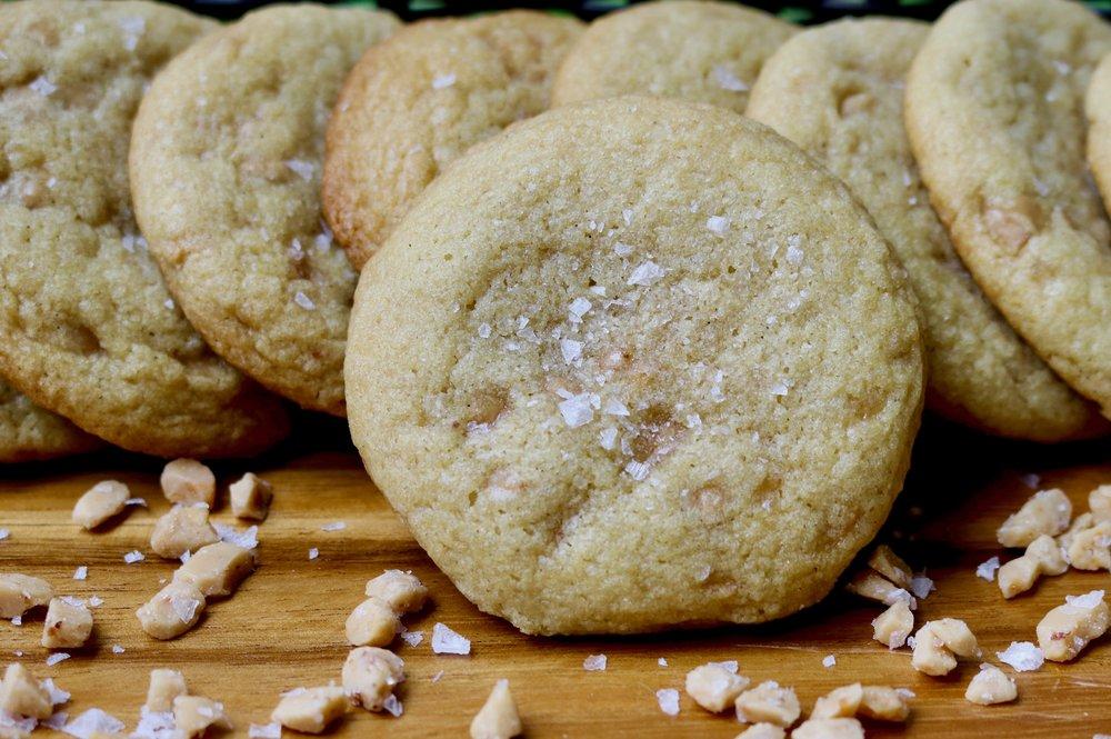 Sea Salt Vanilla Toffee Cookies