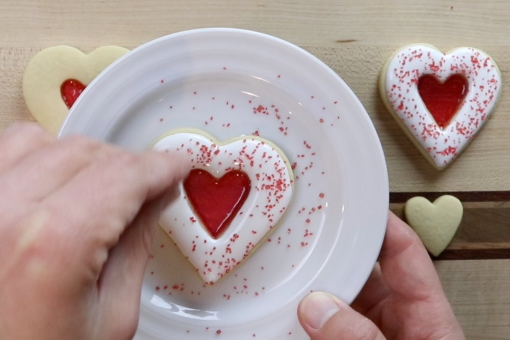 6. Decorate cookies with royal icing and sprinkles if desired. -