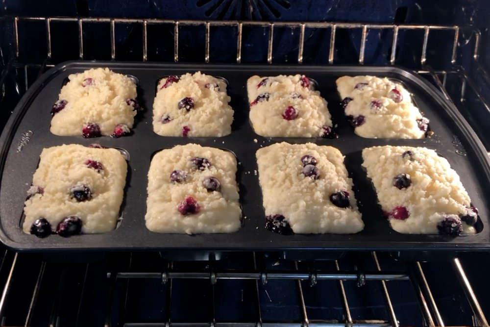 15. Bake for 22-24 minutes or until a toothpick inserted into the center comes out mostly clean. -