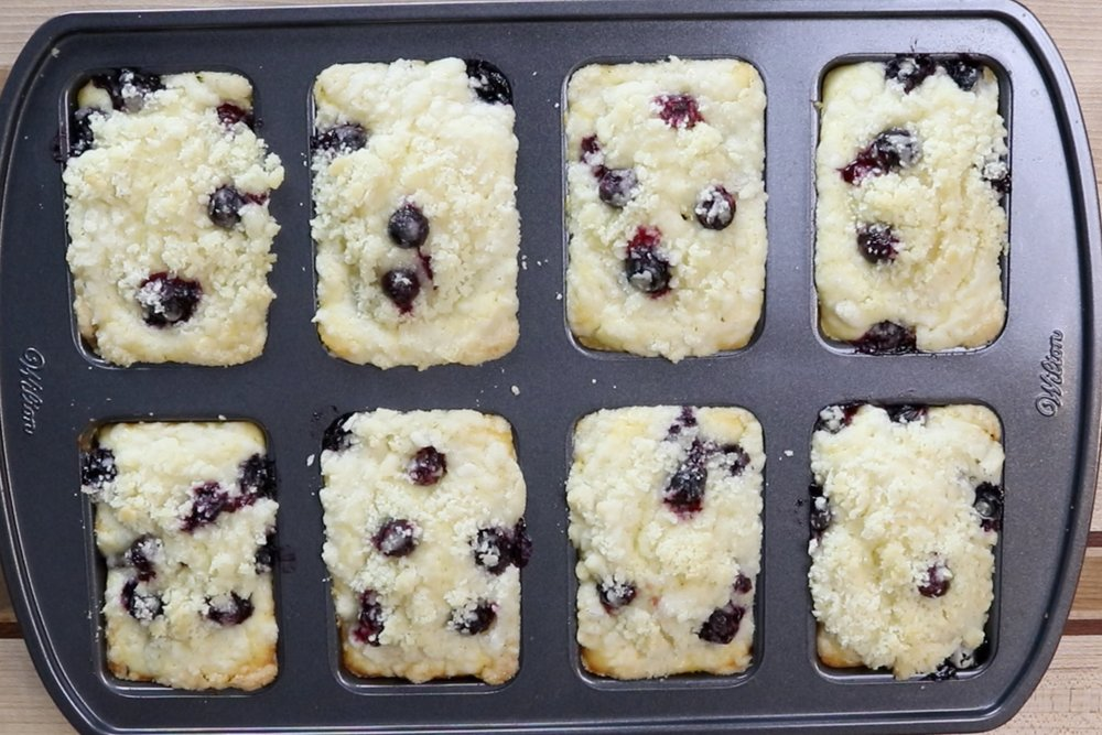 16. Remove from oven and let cool in pan for 5 minutes before releasing. Let loaves finish cooling on a wire rack. -