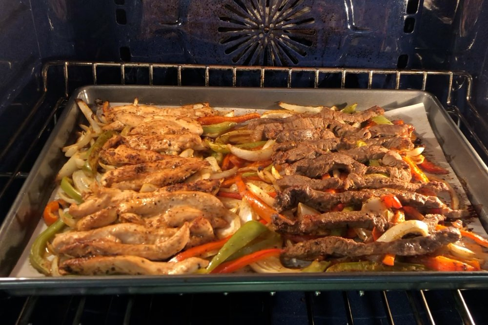 9. Remove baking sheet from oven and turn oven to Broil. When oven is heated, place the baking sheet back in the oven for another 3-5 minutes. This will help the veggies crisp up. -