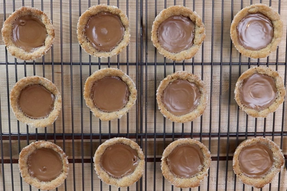 8. Let cookies cool in pan for 10 minutes before removing. Let finish cooling on a wire rack. -