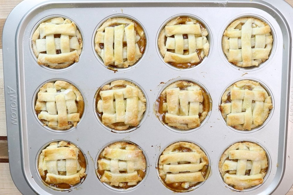 14.  Remove from oven and let cool for 10 minutes before removing from muffin tin. Let finish cooling on a wire rack. -