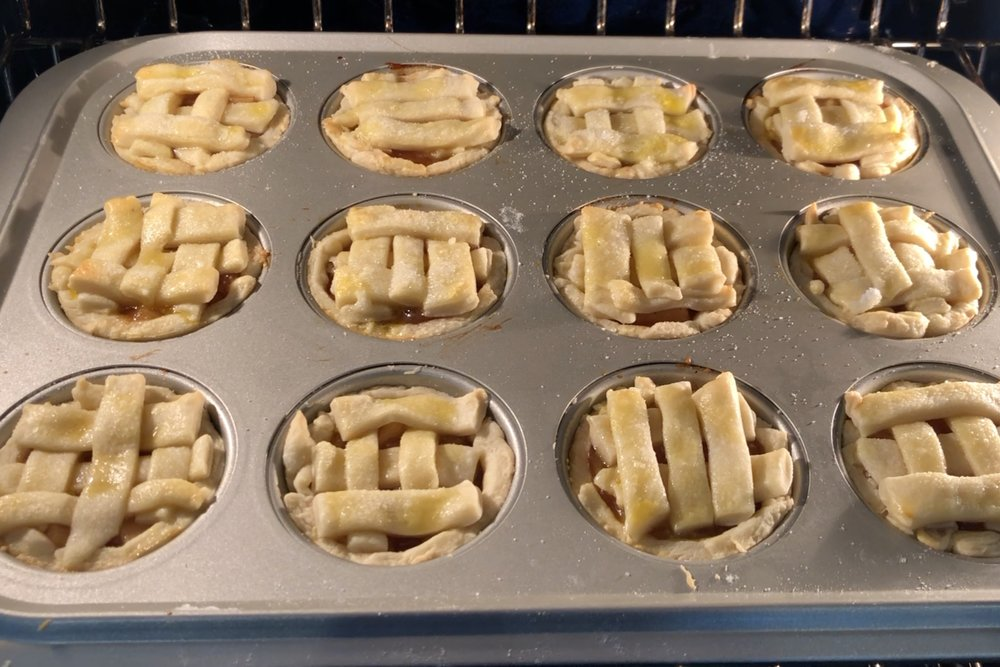 13. Bake for 16-18 minutes until the tops are nice and golden. -