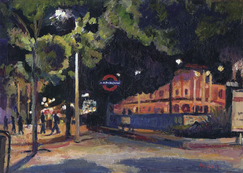 Seven Sisters Station, Night