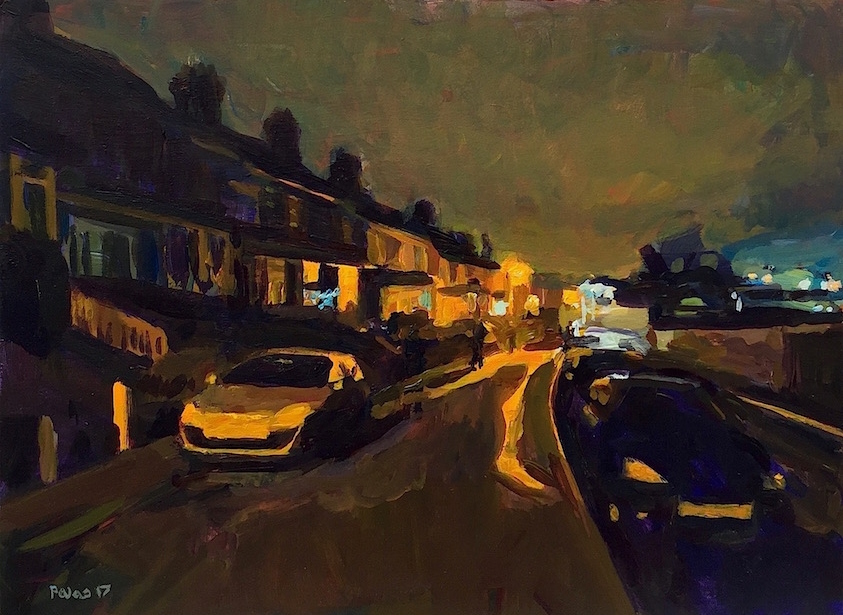 Hivings Hill, Chesham HP5  2017 acrylic on board 30 x 40 cm (12 x 15.5 inches)