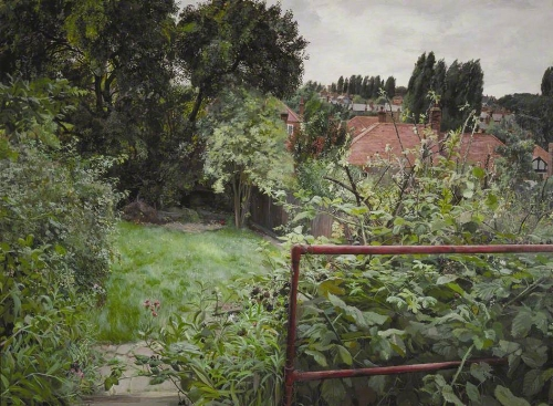 John Pearce  Blackberries in August 1980 acrylic on canvas 36 x 48 inches