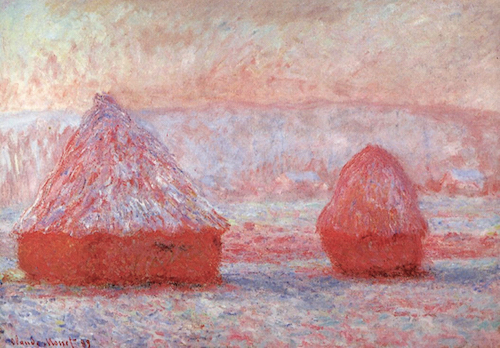 Claude Monet   Grainstacks at Giverny, Morning Effect 1888-89 oil on canvas (Source:  allart.biz )