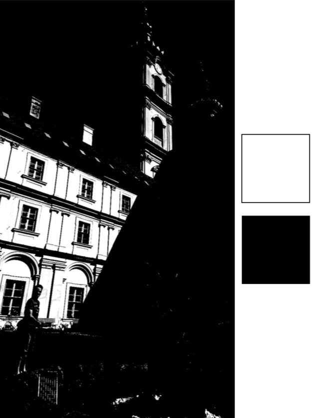 Figure 2:  Tonal values reduced to just black and white.