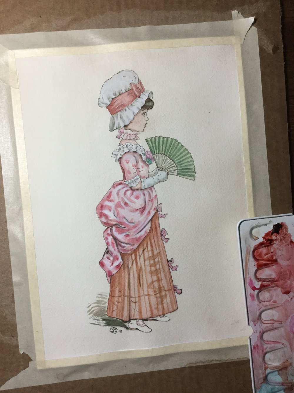 "My ""fancy"" girl in the Kate Greenaway -style"