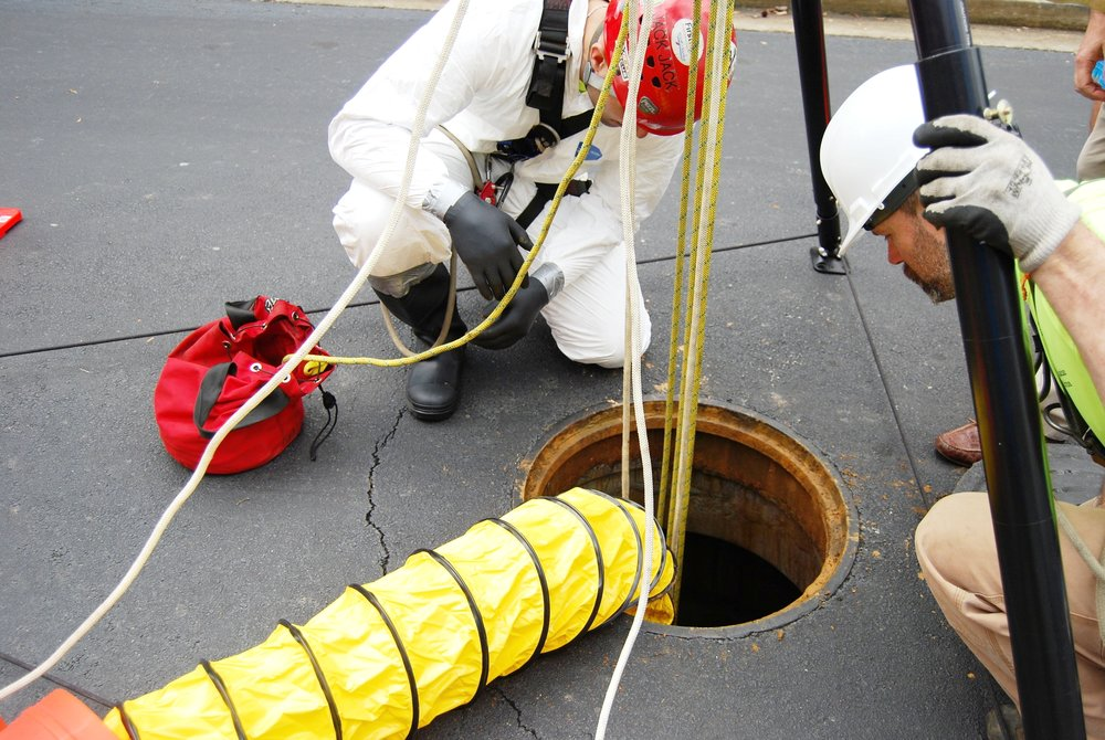 Confined Space Entry and Confined Space Rescue Standby Services performed by SATS team members for debris removal.