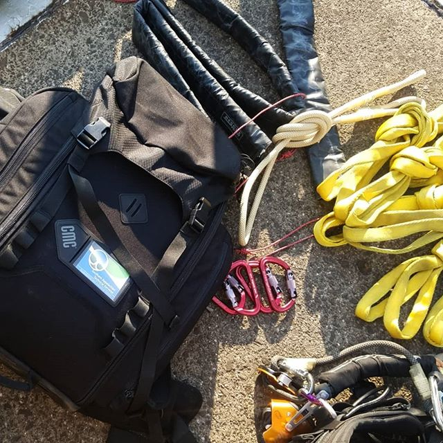 Putting the @cmcpro_official Rigtech pack to use this week.  Well organized and laid out makes working out of it dream. #southernatech  #ropeaccess #techrescue #structuralinspections #sprat #usace