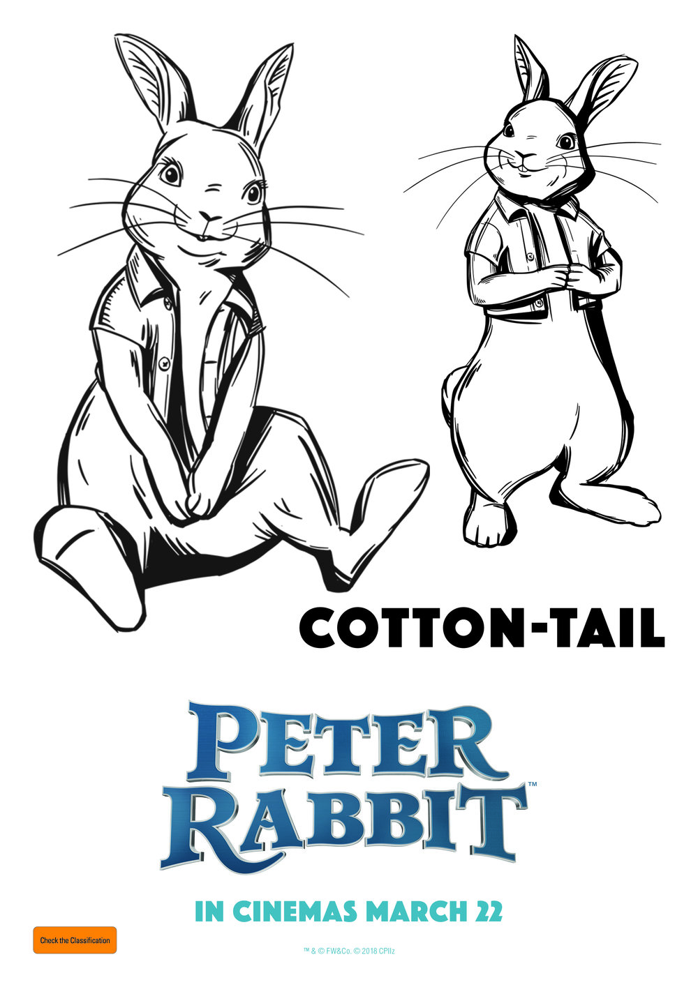 Cotton Tail - FREE Colouring In Sheet