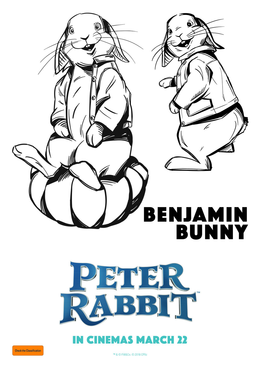 Benjamin Bunny - Colouring In Sheet