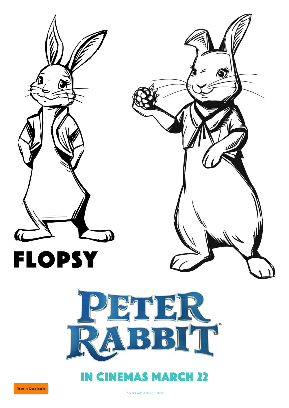 Flopsy - Peter Rabbit - Free Colouring In Sheet