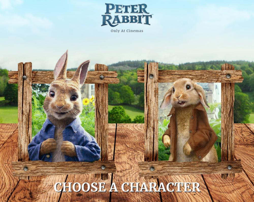 Peter Rabbit Shuffle Game