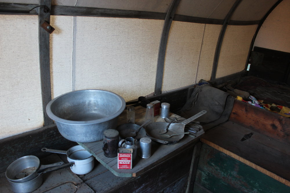 Some items found in the sheepherder's wagon.