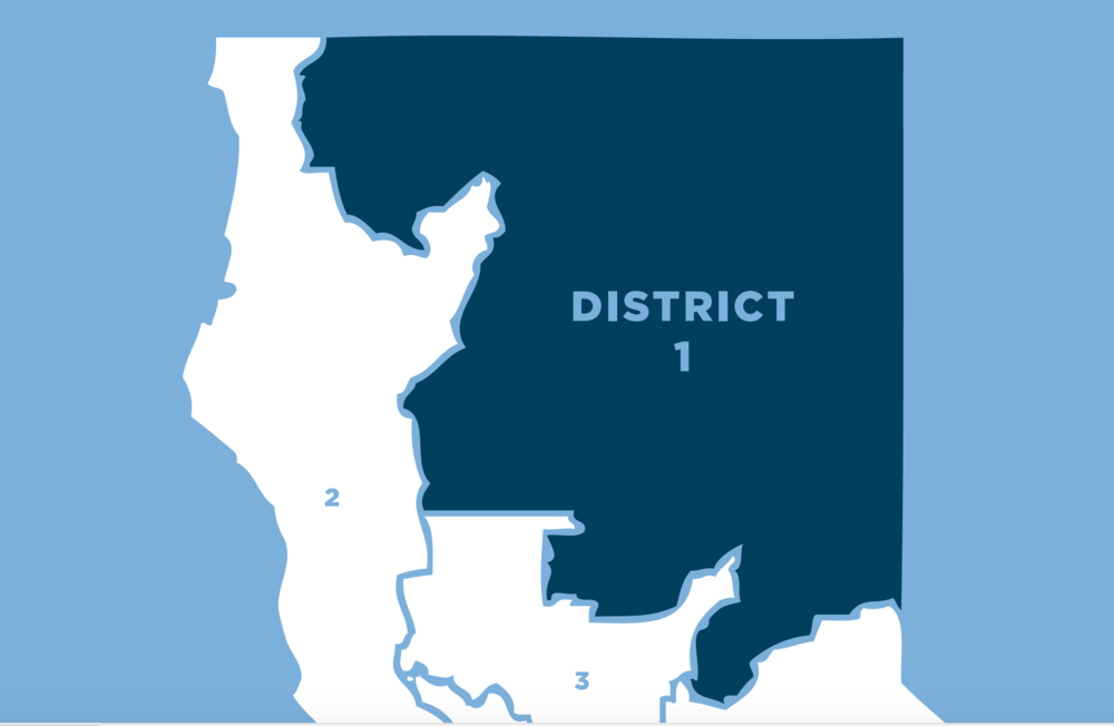 District 1 includes the counties of: Butte, Lassen, Modoc, Plumas, Shasta, Sierra, Siskiyou, Tehama, and parts of: Nevada, Glenn, and Placer.