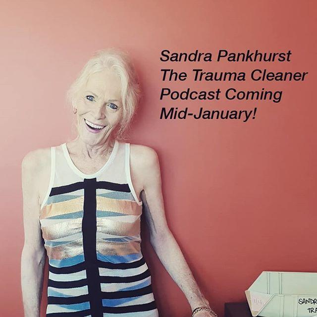 My podcast will land mid-Jan! 😊 #thetraumacleaner #sandrapankhurst