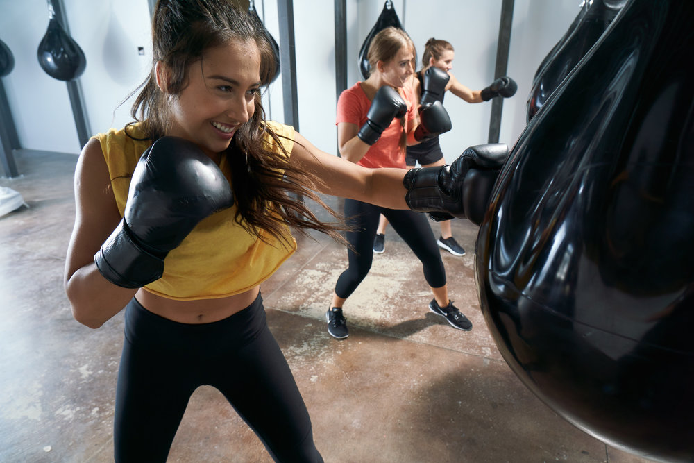 FITNESS BOXING - This high-intensity class will work your entire body and burn calories like nothing you've ever experienced. We focus on the 6 primary punches to create endless combinations, along with body weight exercises and full-body conditioning to develop power, balance, and speed in a whole body, calorie torching workout.*non-contact