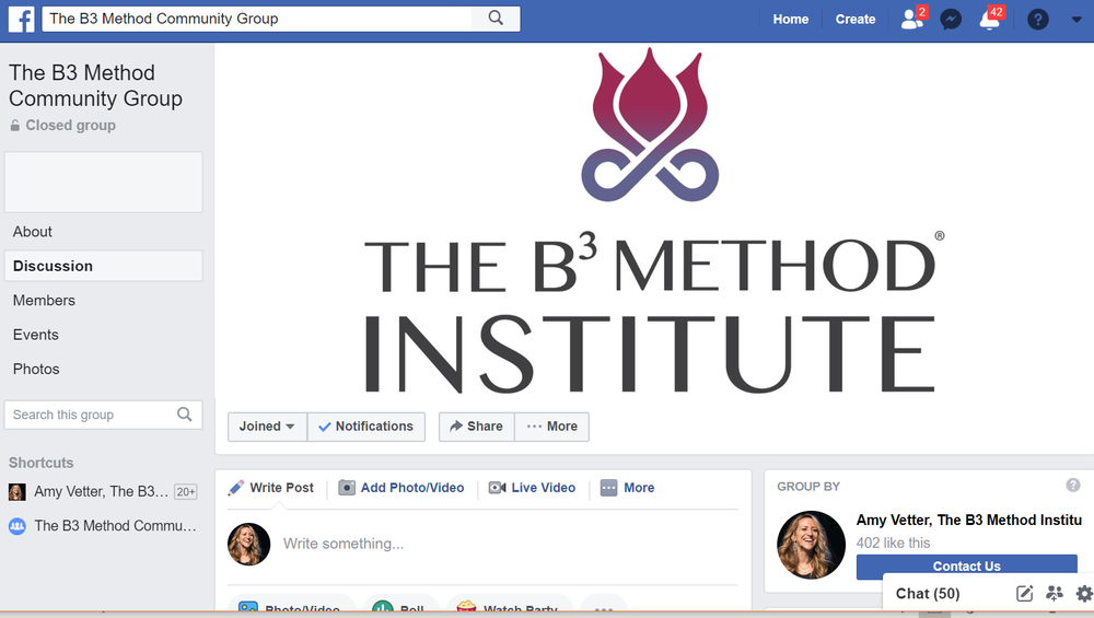 B³ Facebook Group - Exclusive access to a private community group on Facebook to collaborate with others on the B³ Journey.