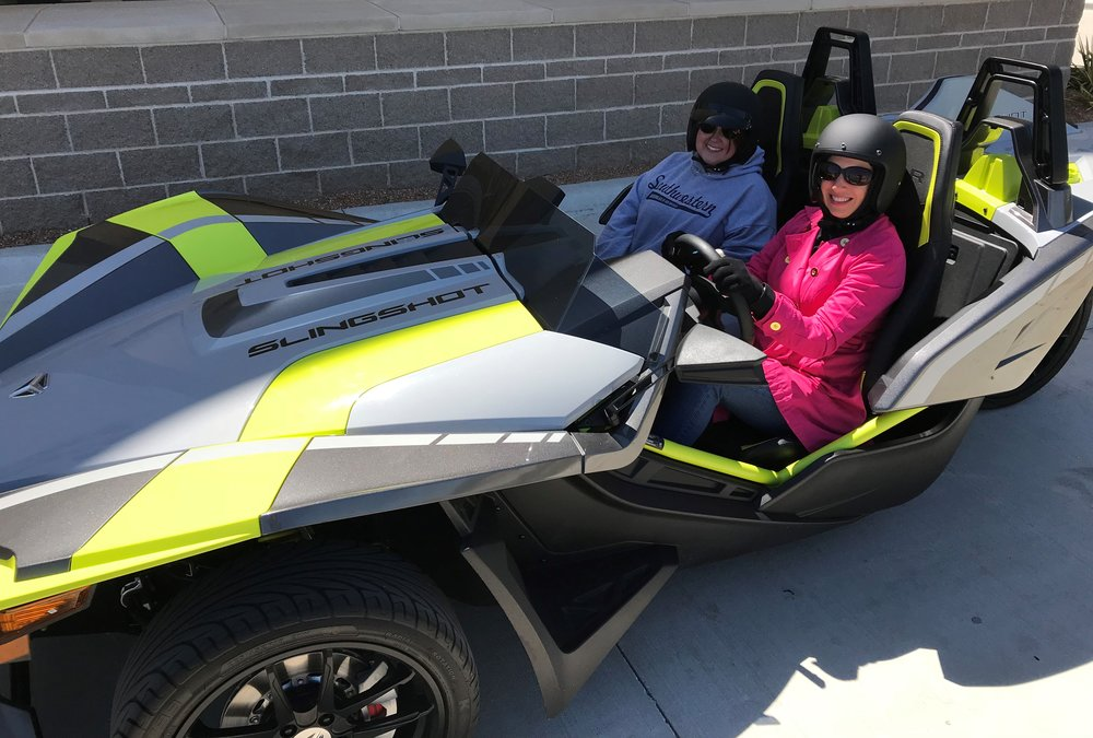 """The Slingshot drives like a car but feels like a motorcycle... thus, the new """"autocycle"""" moniker."""