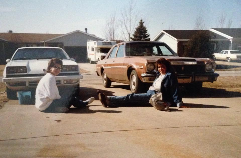 That's me, on the left, and my first car - a 1977 Dodge Aspen - on the right.
