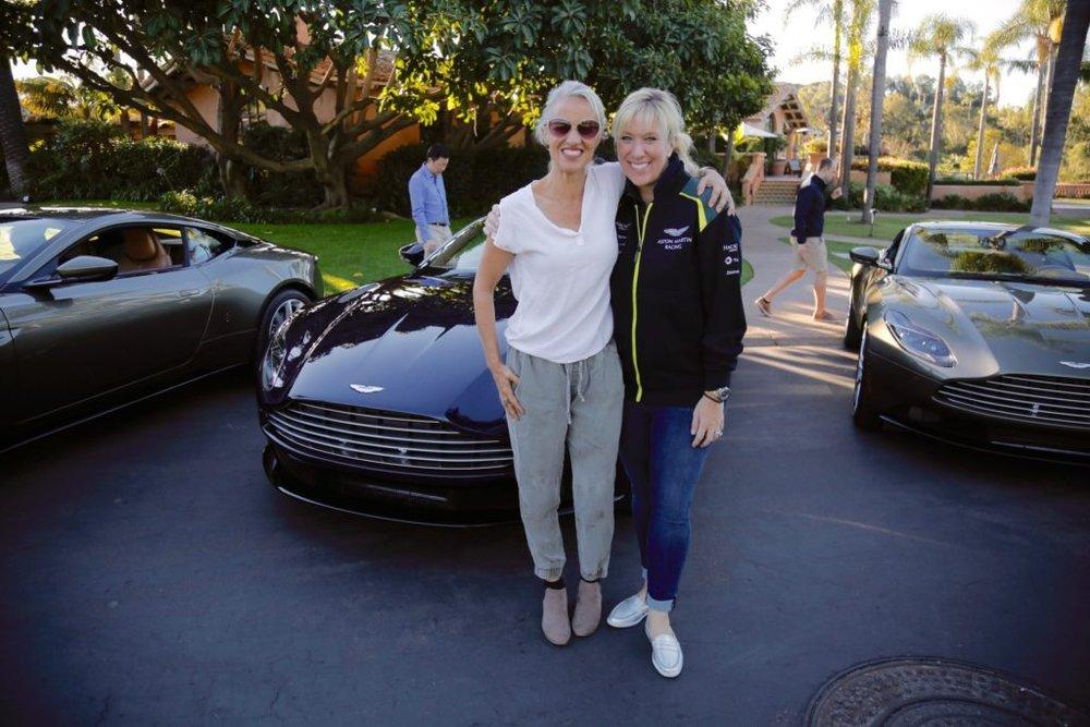 Amelia with Laura Schwab of Aston Martin. Photo: Amelia Dalgaard