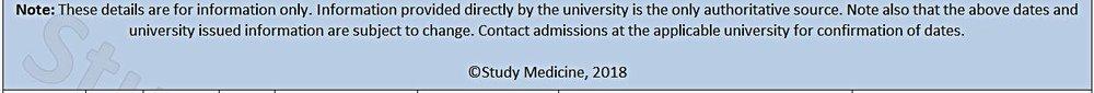 Medical degree deadlines
