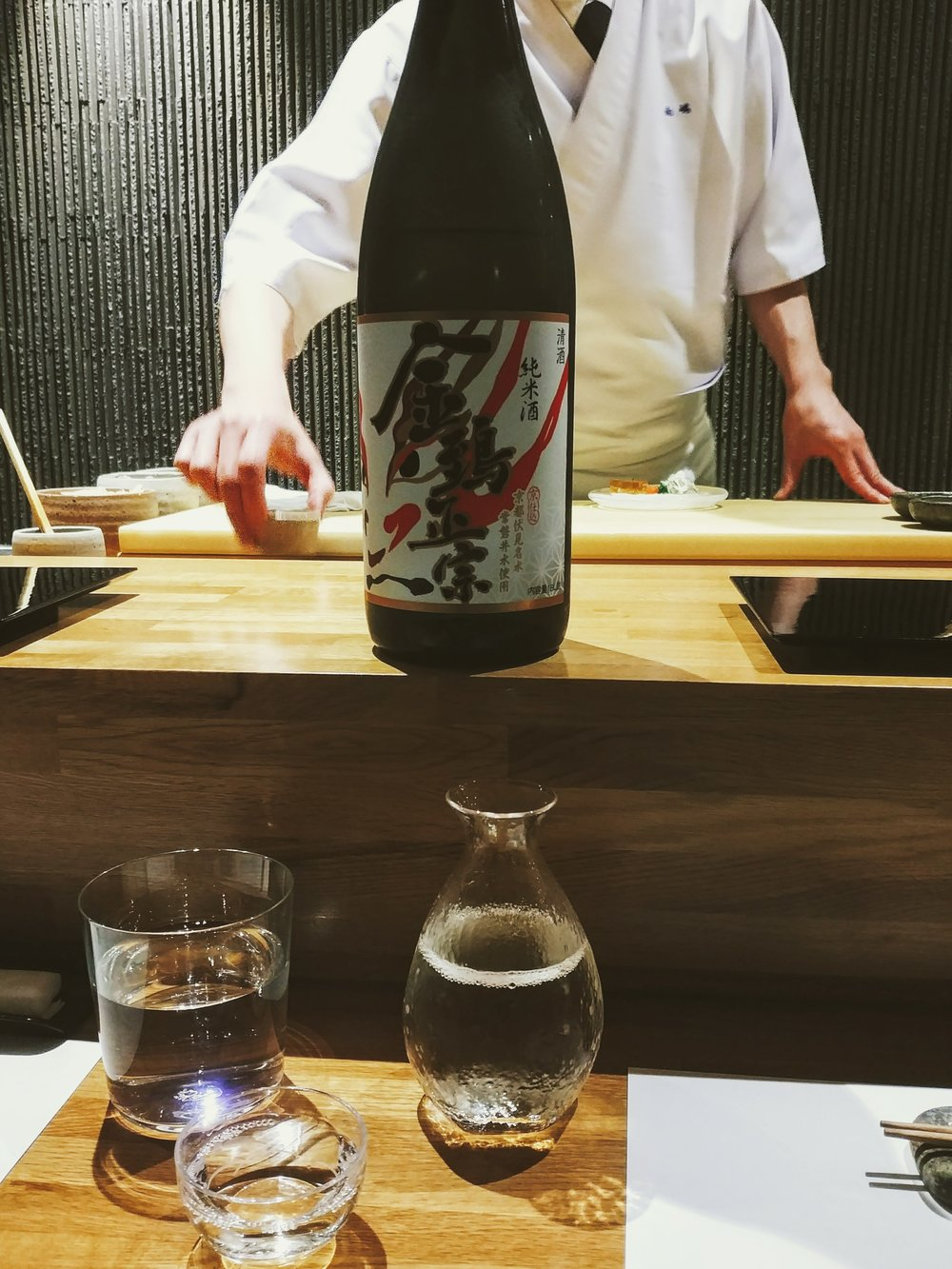 Sake to start with - Either it was from Kyoto or Miyagi...not sure...but went with their recommendation anyway