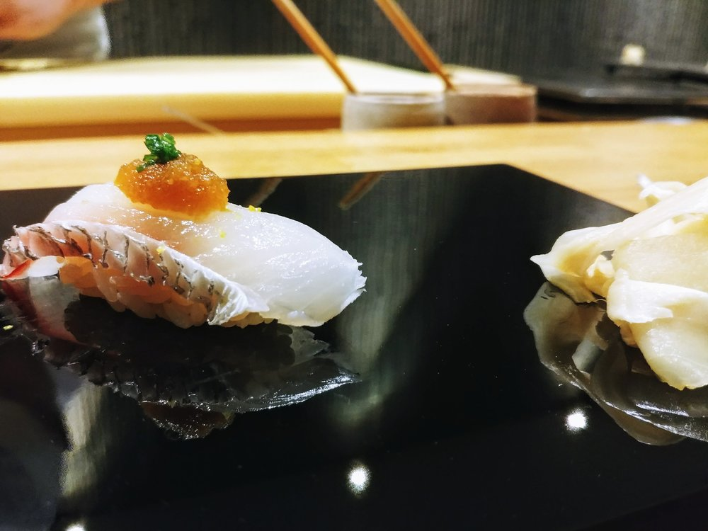 New Zealand snapper - Things will start going to the savoury route as this piece brings out a mild umami flavour with a melting sensation that coats through the tongue in preparation for more!