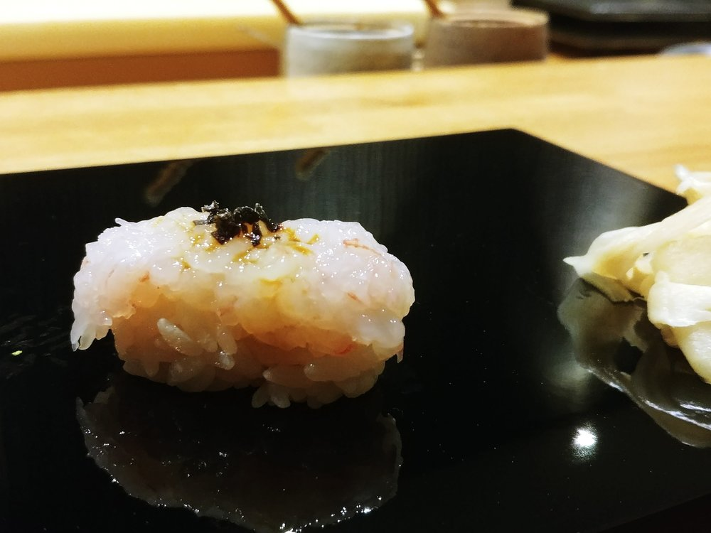Western Australian sweet prawn with dehydrated salted caramel - This piece was a WOW factor with the feeling of punching straight into my face.I felt like Chef Minamishima lifted us out of this world in a straight vertical ride.It was unexpected and I salute it #mytopfavourites