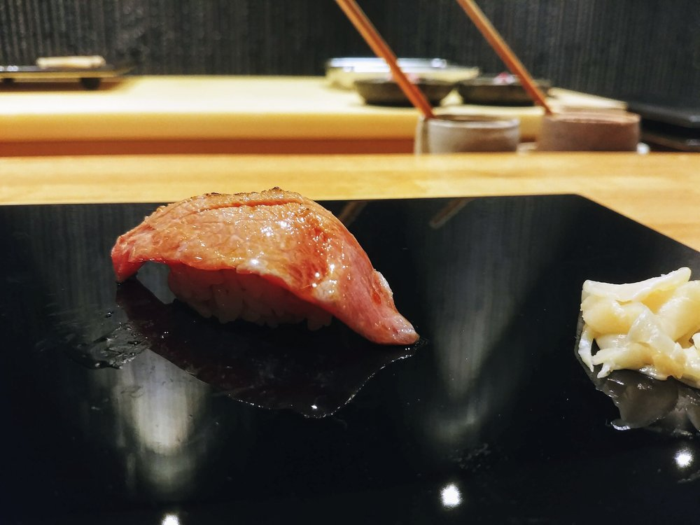 Seared bluefin tuna - Get ready cause this is another seafood bomb prepared by Chef Minamishima that will leave you feeling god-smacked. At first it has a slight bite into the fish and then instantly it melts in your mouth bursting with full of umami and seafood taste, like you have been washed by a giant wave of the sea #mytopfavourites