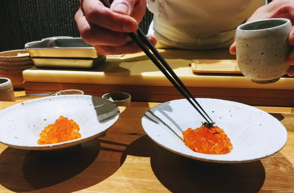 Salmon roe - Love the burst of sea flavour like tiny pops in your mouth.