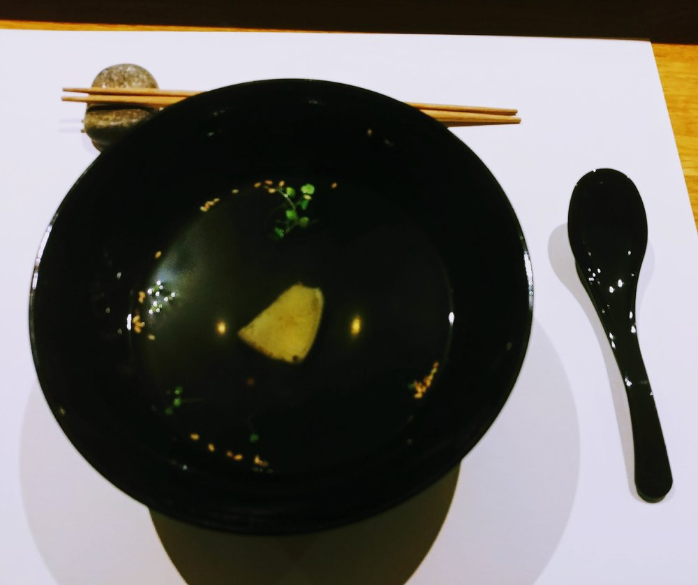 Stingray soup - Love this soup! It somehow cleansed our palates but leaving an extremely satisfied warmth to our bodies, allowing us to give off a small sigh...it was unreal!