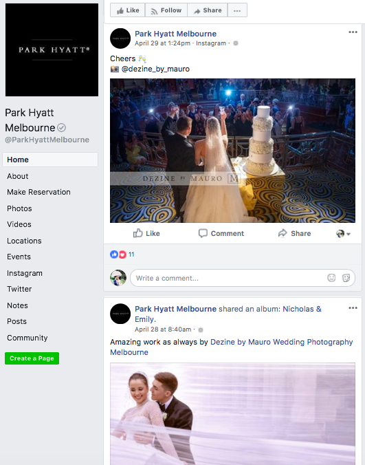 Facebook - Looking through their Facebook page, it doesn't really appeal strongly to me. I feel like it is just like any other business pages without a strong personality. They have focused majorly on wedding related content however they need to note that these content don't drive engagement.