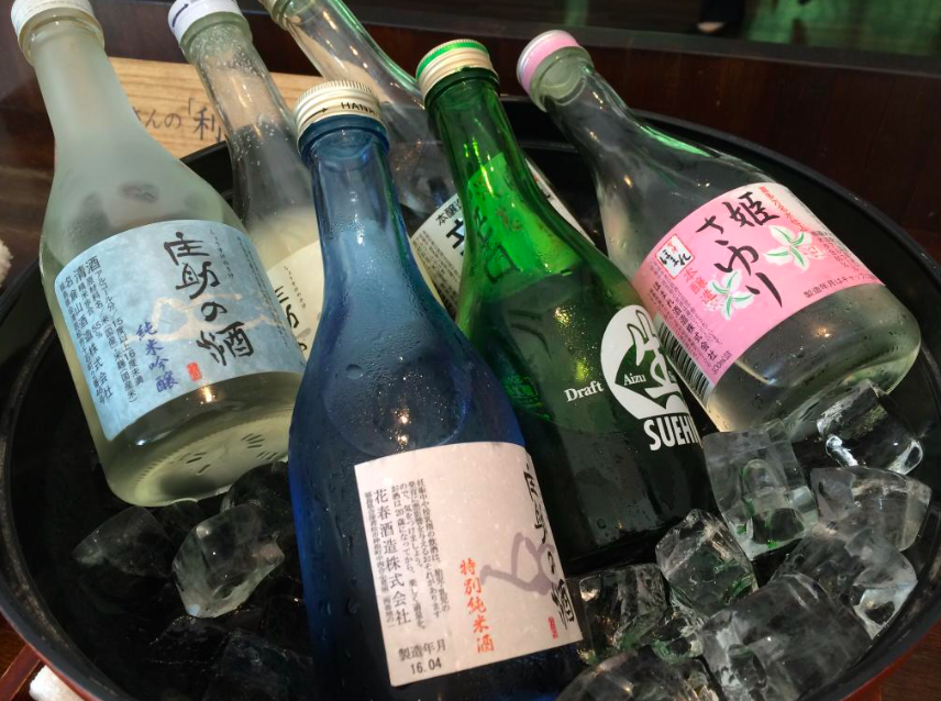 A great selection of local Aizu sake to try!