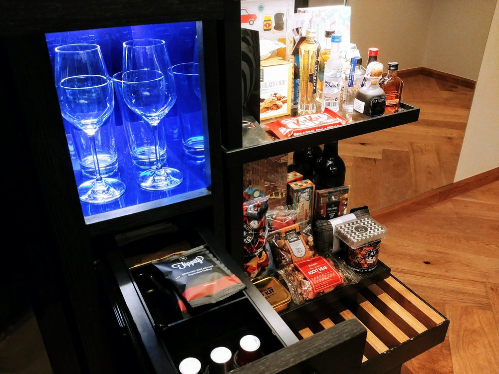 Quite an extensive selection of items at the mini bar section...including some card/mini games!