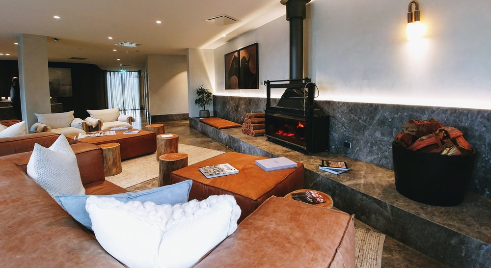 Imagine chilling in front of the fireplace at the lobby