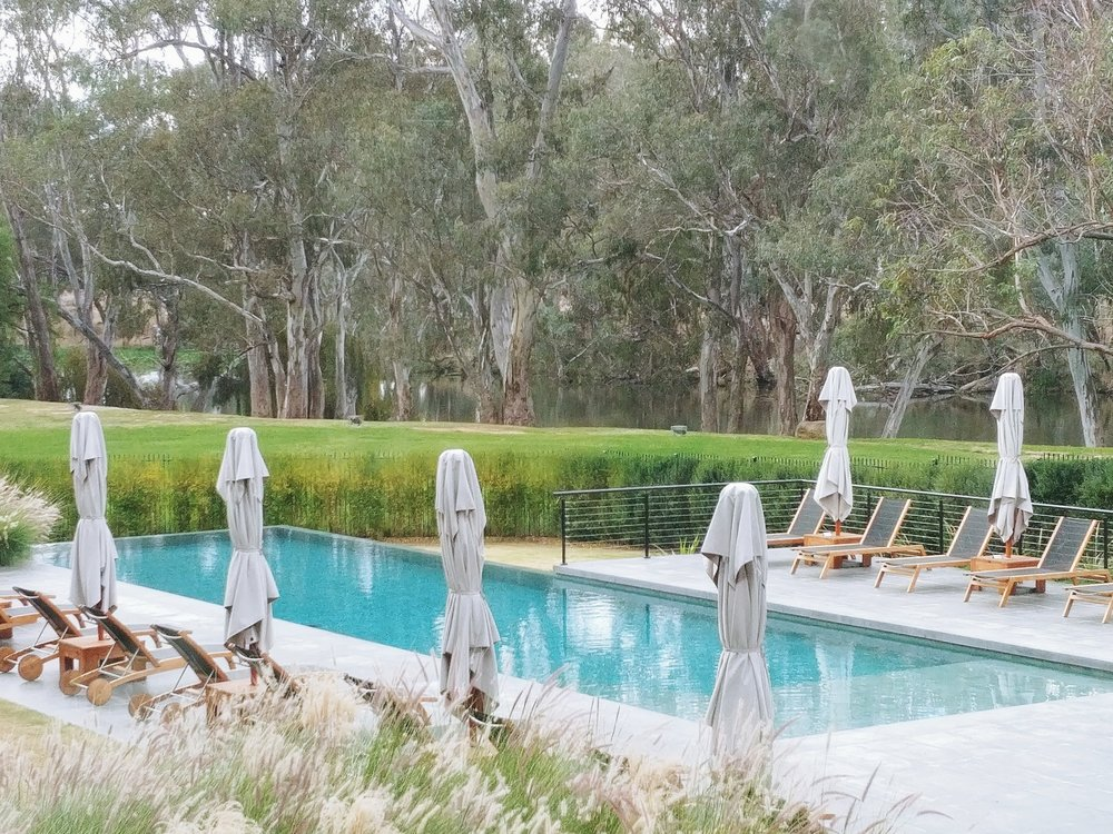 Infinity pool with the view of Goulburn river - great for summer!