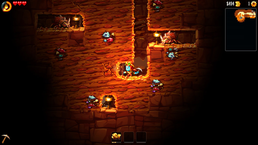 SteamWorld Dig 2 Screen
