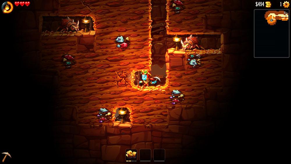 SteamWorld Dig 2 Screen