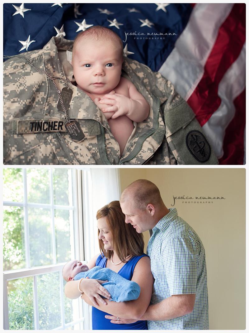patriotic newborn